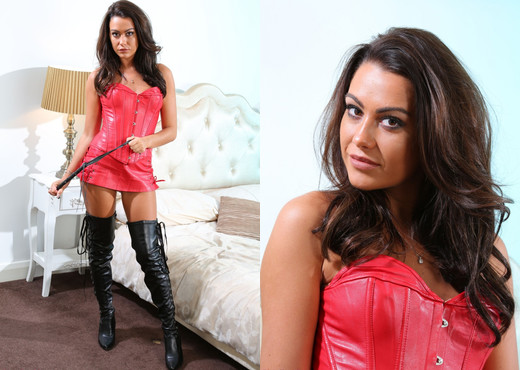 Harriette Taylor Red Leather - Strictly Glamour - Solo Nude Gallery