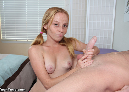 Tiny Hands Grip a Big Cock : Alyssa Hart - Teen Tugs - Teen HD Gallery