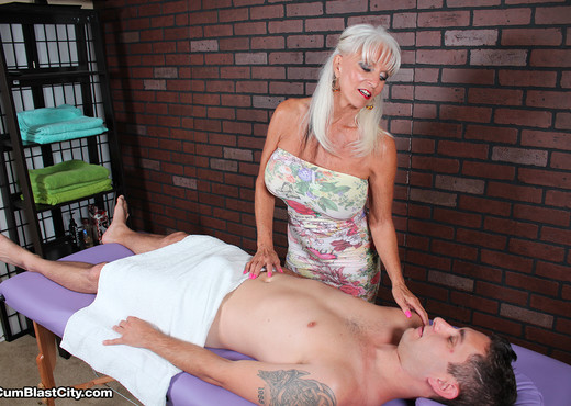 Sally Dangelo - Massage Then Spurt - Cum Blast City - MILF HD Gallery