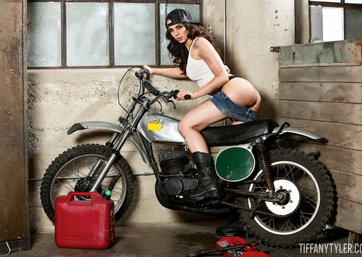 Tiffany Tyler in Motorcycle Playtime - Solo Image Gallery