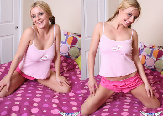 Denise - Pink Stripes - SpunkyAngels - Solo Picture Gallery