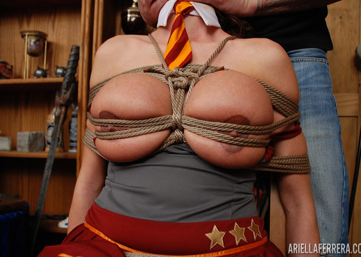 Ariella Ferrera in Tied Up Cocksucker - BDSM Picture Gallery