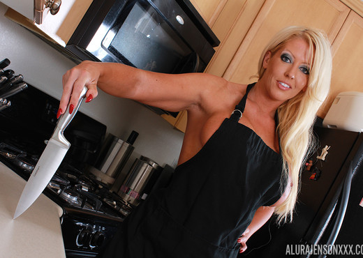 Alura Jenson in Dining In The Kitchen - MILF Image Gallery