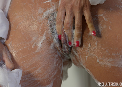 Ariella Ferrera in Sheer Shower - Solo Nude Gallery