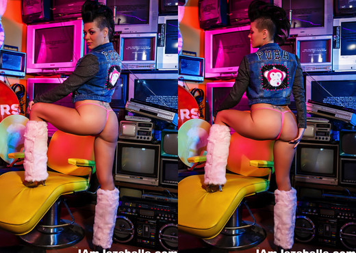 Punk MILF Jezebelle teases in an 80s themed photoshoot - MILF TGP