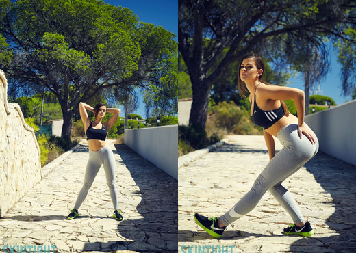 Brook Wright - Run In The Sun - Skin Tight Glamour - Solo Sexy Photo Gallery