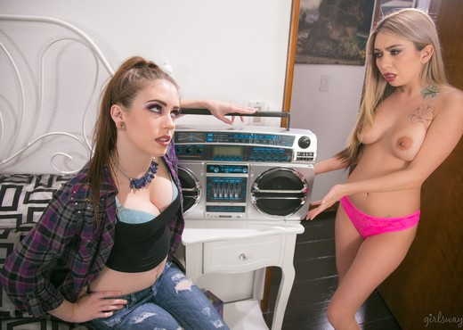 Anna De Ville, Kat Dior - The Shy Roommate - Lesbian Image Gallery