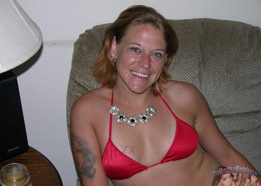 Amateur Mature Blonde Strips Bikini And Spreads - Amateur Porn Gallery