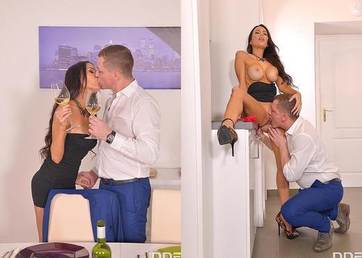Voluptuous Sensation: Leggy Latina Milf Poked in Kitchen - Hardcore Nude Gallery