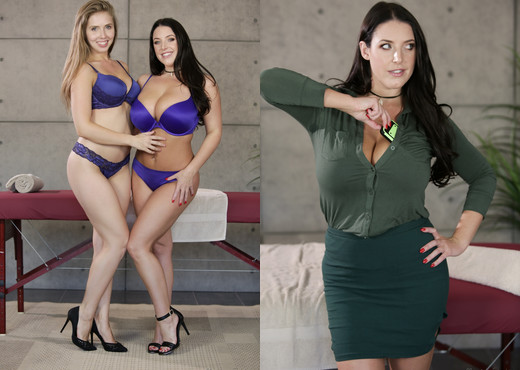 Lena Paul, Angela White - Undercover Exposé - Lesbian Sexy Photo Gallery