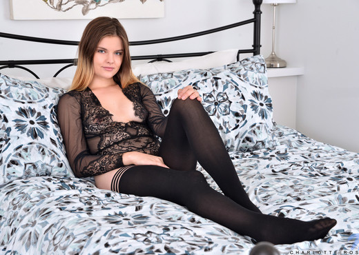 Charlotte Rose - Black Lace - Nubiles - Teen Nude Gallery