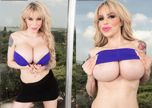 Danielle Derek - Danielle Super-sizes Her Rack - ScoreLand - Boobs HD Gallery