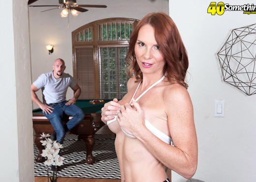 April Skyz - April's first time - 40 Something Mag - MILF Sexy Photo Gallery