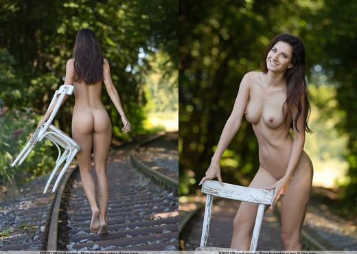 On The Right Track - Lauren - Femjoy - Solo HD Gallery