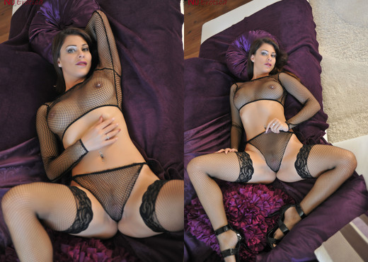 Roxy Mendez In Black Mesh - NuErotica - Solo Hot Gallery