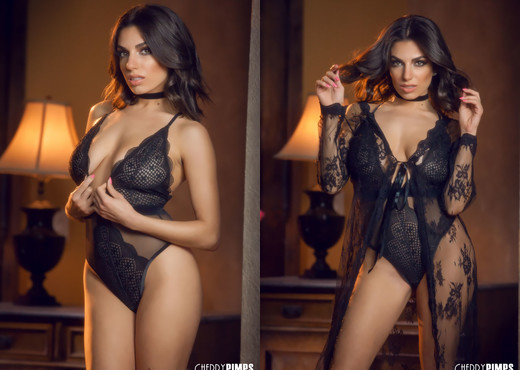 Darcie Dolce Seduces In Her Black Bodysuit and Lace - Solo TGP