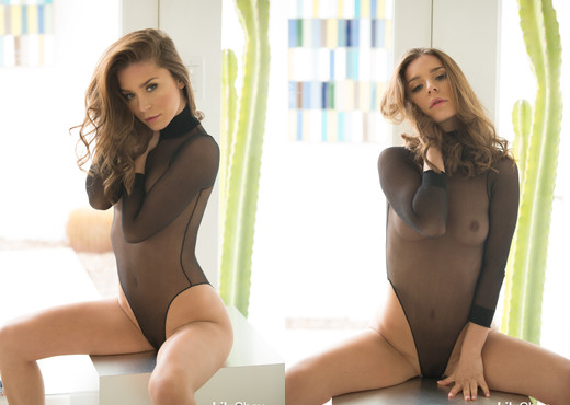 Lily Chey - Black Bodysuit - Solo Nude Gallery