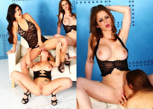 Four Girl Orgy With Brett Rossi and Kendall Karson - Lesbian Picture Gallery