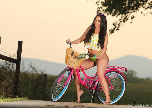 Barbara Desiree: Bicycle Babe - Solo Nude Gallery
