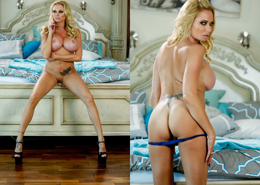Briana Banks In Sexy Blue Lingerie - MILF Picture Gallery