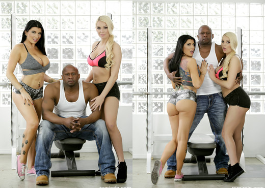 Romi Rain - A 3-Way BBC Workout - Interracial Nude Gallery