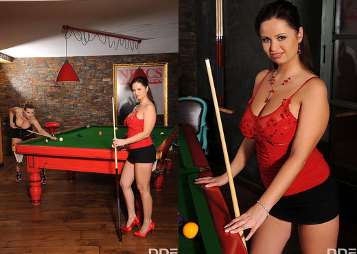 Britney, Sirale - Busty Billiards - Lesbian Image Gallery