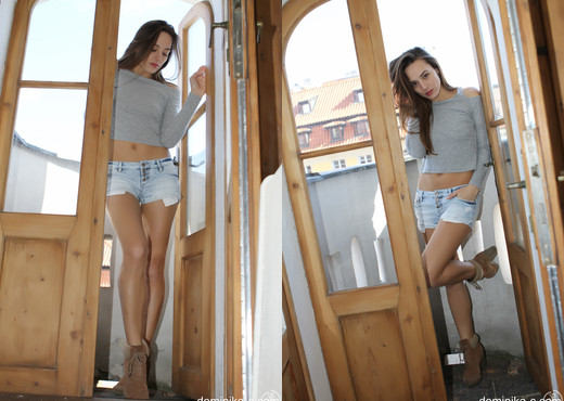 Dominika C - Jean Shorts - Solo Nude Gallery