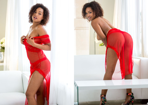 Noel Monique Strips Out Of Her Cute, Transparent Dress - Ebony Sexy Photo Gallery