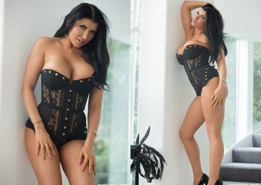 Romi Rain - Corset Strip-Down - Solo Nude Gallery