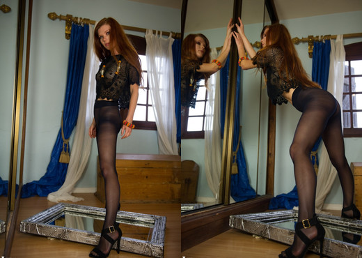 Mia Sollis - Mirrored - More Than Nylons - Solo Sexy Gallery