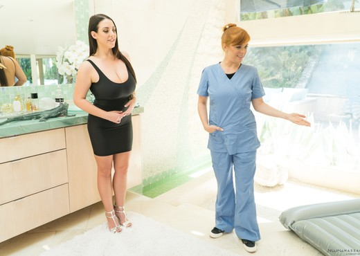 Penny Pax, Angela White - Out With The Boys - Lesbian Image Gallery