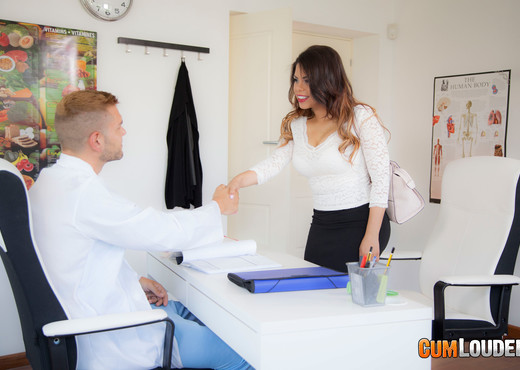 Kesha Ortega - Doctor Boobs's Office - CumLouder - Hardcore Nude Pics