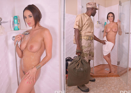 Anissa Kate - Avid For A Soldier's Cum - Interracial Hot Gallery