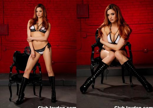 Jayden strips off her bikini to masturbate - Jayden Cole - Solo Nude Pics