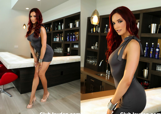 Beautiful redhead Jayden poses on the bar - Jayden Cole - Solo Picture Gallery