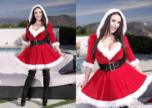 Angela White - Jingle Her Bells - Solo HD Gallery