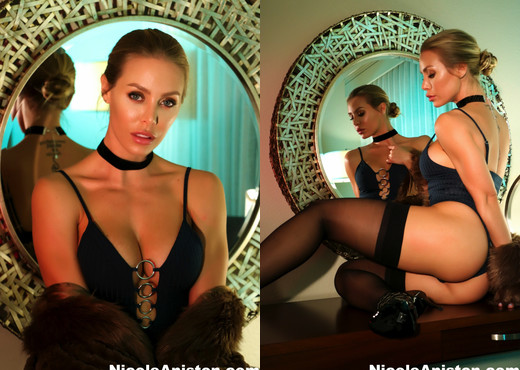 Sexy Nicole nude with her fur - Nicole Aniston - Solo Nude Gallery