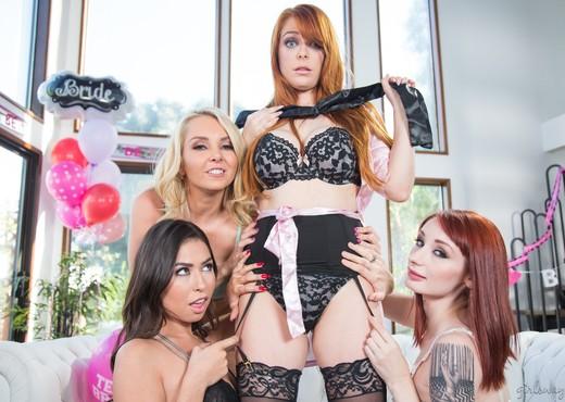 Strap-On Stories: Gangbang Bachelorette - Girlsway - Lesbian TGP