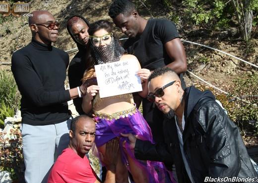 Monica Sage - Blacks On Blondes - Interracial Sexy Photo Gallery