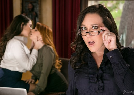Lady Boss: Caught at the Office - Girlsway - Lesbian Picture Gallery