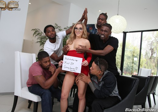 Moka Mora - Blacks On Blondes - Interracial Picture Gallery