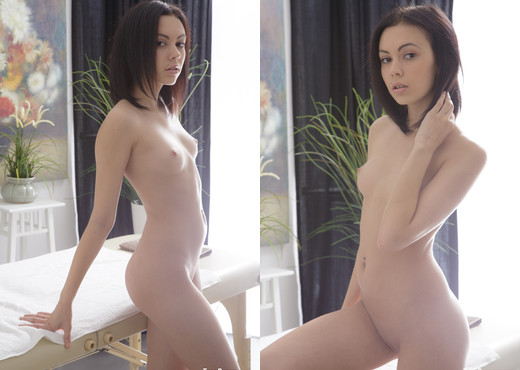 Teen Dreams - Nora is a slim brunette with short hair - Teen Hot Gallery