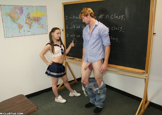 Brandi jerking off boys in class - ClubTug - Hardcore Hot Gallery