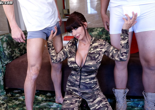 Busty Drill Sergeant Catalina Cruz gets gangbanged by 3 men - Hardcore Hot Gallery