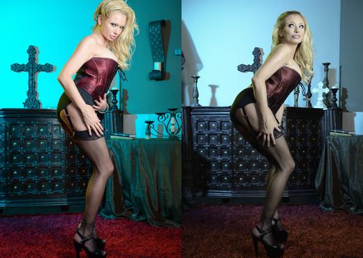Briana Banks - Maroon Silk Blonde Bombshell - MILF Nude Gallery