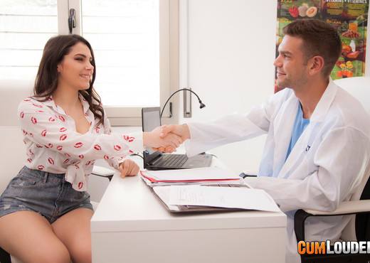 Valentina Nappi seduces Doctor Boobs - CumLouder - Hardcore HD Gallery