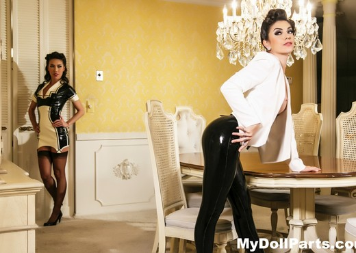 House of latex with Kayla Jane Danger and Kalina Ryu - Lesbian Nude Pics
