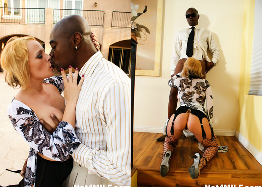 Busty blonde MILF Sunny loves that black cock - Hot 4 MILF - Interracial Picture Gallery