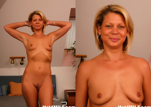 Sexy blonde MILF lets him cum on her tits - Hot 4 MILF - MILF Image Gallery