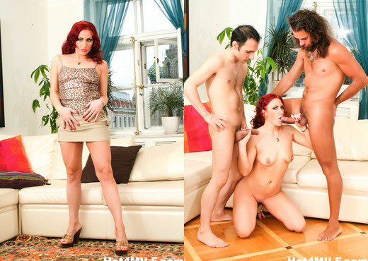 Redhead MILF gets DP'd by two hard cocks - Hot 4 MILF - MILF Nude Pics